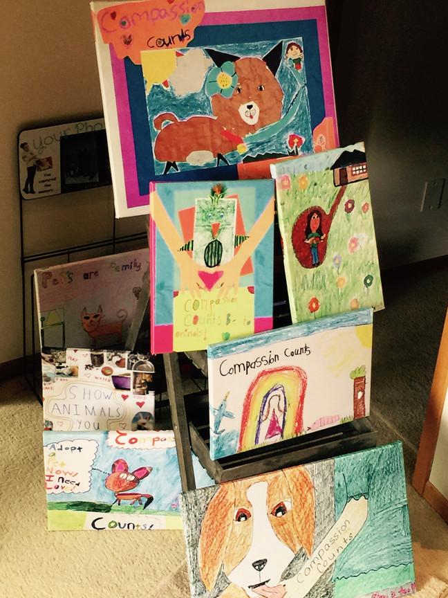 Kids Art to Canvas . . .