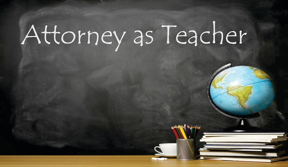 And expert witnessess as teachers