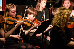 Younger members performing alongside the students of Maynooth Univeristy and professional musicians.