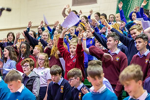 Working in partnership with the Irish Youth Choir and Sing Ireland, SingOUT! is a chance for local secondary schools with choirs to get involved in a new style of singing experience, and for those schools without choirs to get involved in the Singfest fun.