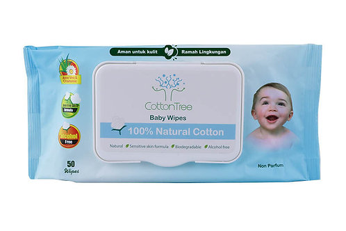 Baby Wipes by Cotton Tree 50 Wipes