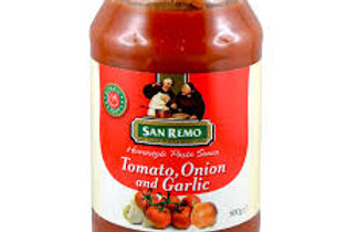 Pasta Sauce With Tomato, Onion, And Garlic by San Remo 500ml