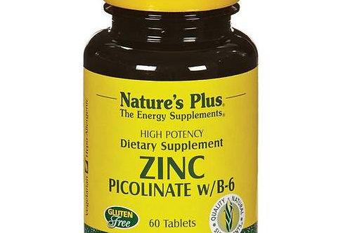 Zinc Picolinate w/B-6 by Nature's Plus 60Tabs