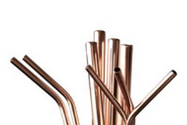 Stainless Straw, Rose Gold