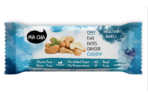 GF Ginger Cashew Energy Bar by Mia Chia