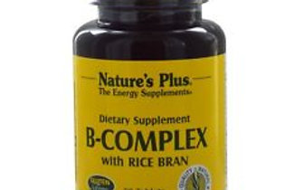 B Complex With Rice Brain by Nature's Plus 60Tabs