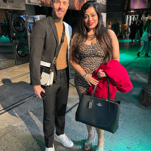 Saroni Roy with AUSTRALIAN FASHION GURU Donny Galella at AAFW 2021.jpeg
