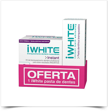 IWhite Instant 2 Kit Branqueamento c/ Oferta Pasta Dentífrica Branqueadora