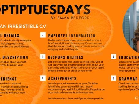 #TOPTIPSTUESDAY by Emma Bedford