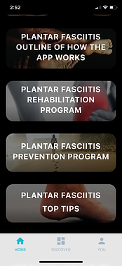 Plantar Fasciitis App