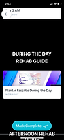 Plantar Fasciitis App during the day