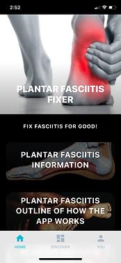 Plantar Fasciitis App homepage