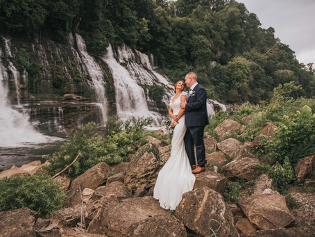 LINDSEY + KYLE  EMOTIONAL WATERFALL ELOPEMENT
