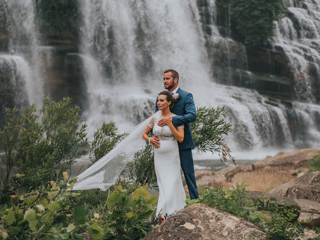 ALISON + DUSTIN INTIMATE WATERFALL ELOPEMENT
