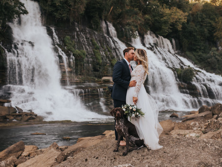VANESSA + BRANDON WATERFALL ADVENTURE ELOPEMENT
