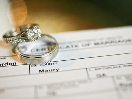 The Coronavirus and Weddings