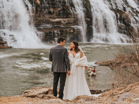 WINTER WATERFALL ELOPEMENT
