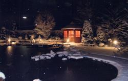 Schwimmteich Winterparadies