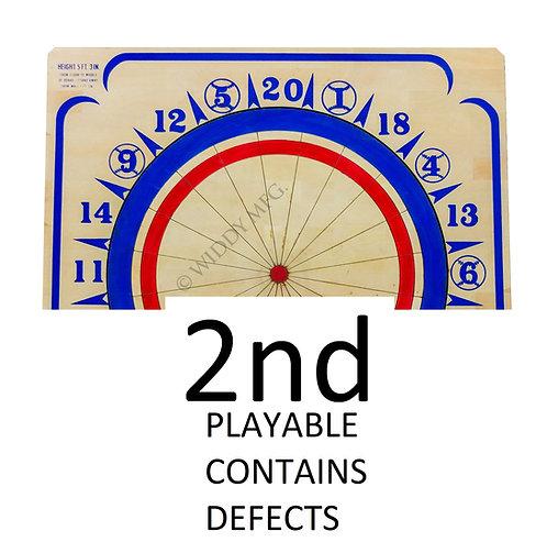 Factory SECOND Widdy Wood Dart Board