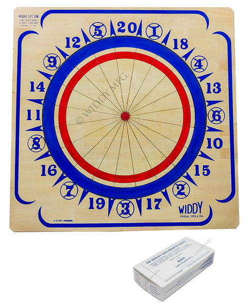 Widdy Official Tournament Wood Dart Board w/darts