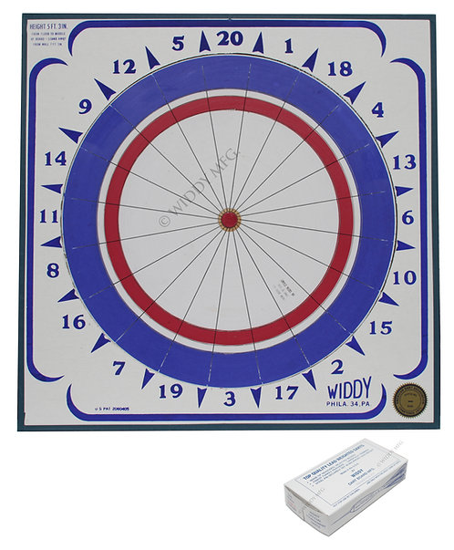 Widdy Official Tournament Paper Dart Board w/darts