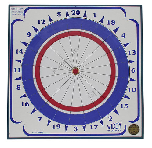Widdy Official Tournament Paper Dart Board