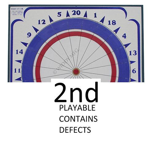 Factory SECOND Widdy Paper Dart Board