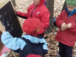 Jak se v lese učíme číst psát a počítat?