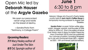 Reading at the Babylon Village Arts Council's Poetry Series