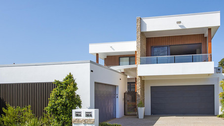 Modern duplex listed for lease in Paradise Point