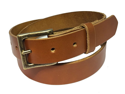 Leather Belt - Cognac