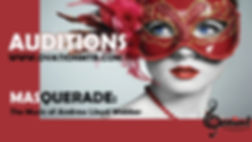 Masquerade Poster Concept for Auditions.