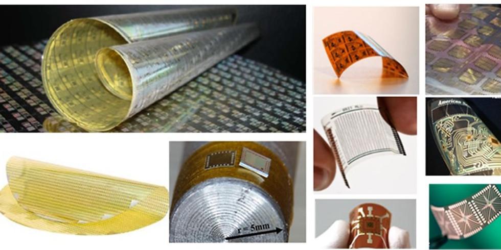 Flexible Hybrid Electronics: Towards Thin Flexible ICs and Printed Logic and Memory