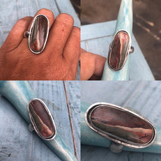 Imperial jasper ring