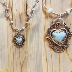 Larimar heart necklace donation piece fo