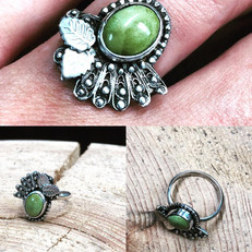 Green turquoise vintage-style ring