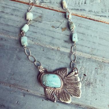 Larimar fish necklace