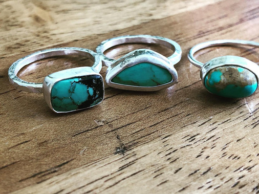 Turquoise stacker rings