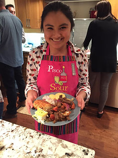 Sol shares Peruvian dishes with the Rotary Club of Chilliwack Mount Cheam