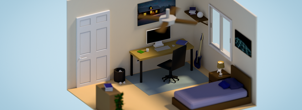 Final Low Poly Interior Orthographic Com