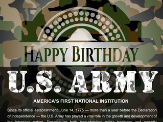 Happy 243rd Birthday US Army - June 14th................