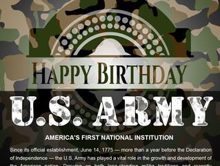 Happy 243rd Birthday US Army - June 14th................