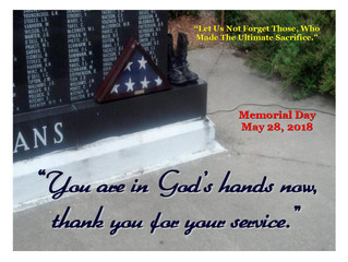 Memorial Day - May 28 - Let US Remember.......