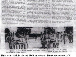 1968 - Cold War - Korean DMZ.....