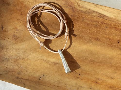 Diamondback Leather necklace