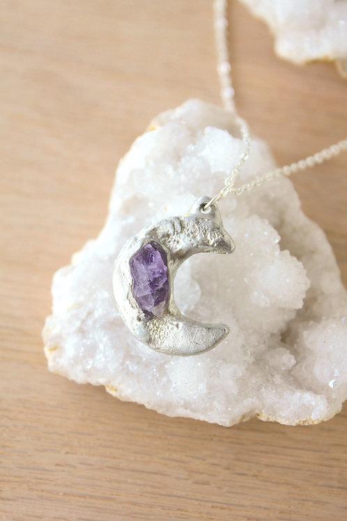 Amethyst Moon Necklace