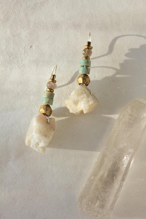 Druzy + Jasper earrings