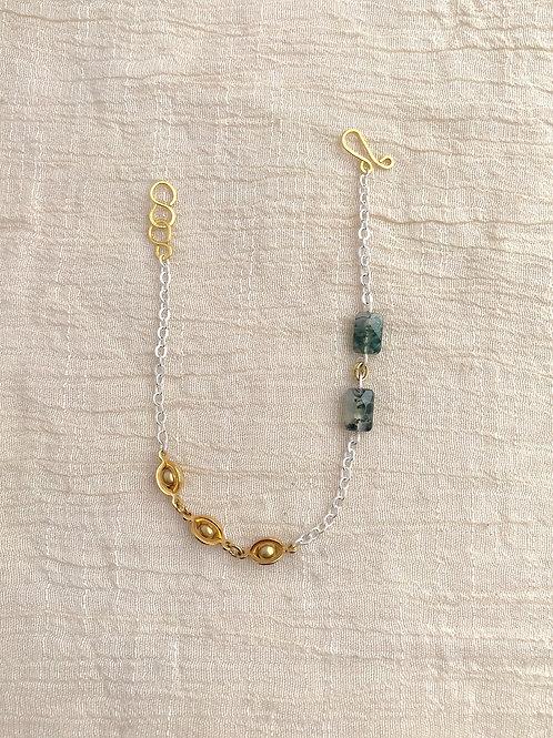 /SHIFT/ Moss Agate Planetary Bracelet