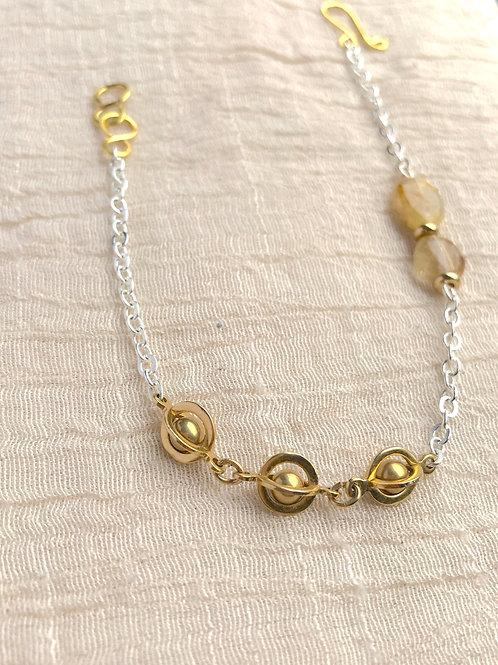 /SHIFT/ Rutilated Quartz Planetary Bracelet