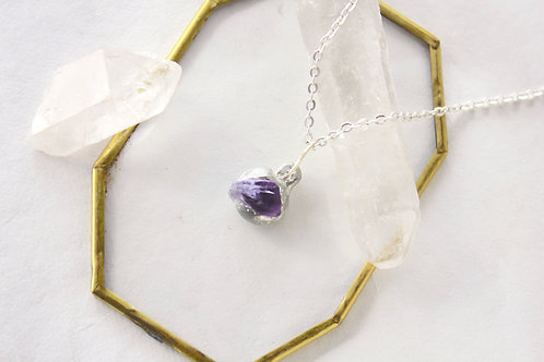 Small Amethyst Crystal Necklace
